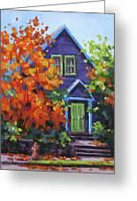 Fall In The Neighborhood Greeting Card