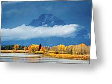Fall At The Oxbow Greeting Card