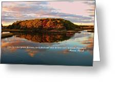 Fall In Wellfleet Quote Greeting Card