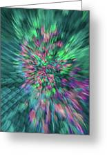 Fall Leaf Zoom Abstract Greeting Card