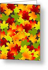 Fall Leaves Quilt Greeting Card