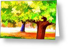 Fall Leaves Trees 1 Greeting Card