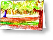 Fall Leaves Trees 2 Greeting Card