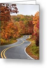 Fall Mountain Road Greeting Card
