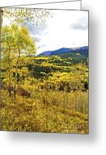 Fall Mountain Scenery Greeting Card