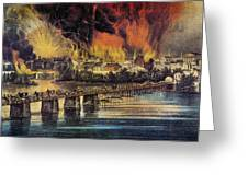 Fall Of Richmond, 1865 Greeting Card