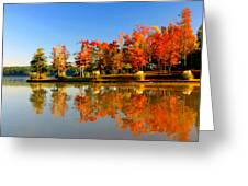 Fall On Lake Greeting Card