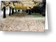 Fall On Oak Street Greeting Card