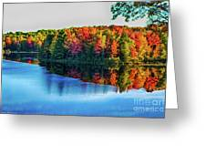 Fall On The Lake In Wisconsin Greeting Card