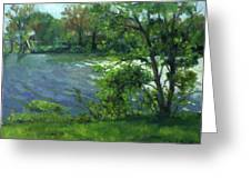 Fall On The Maumee River Greeting Card