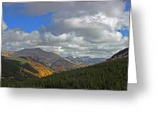 Fall On The Pass Greeting Card