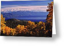 Fall Over East Shore Greeting Card