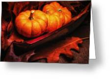 Fall Pumpkins Still Life Greeting Card