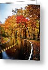Fall Rain Greeting Card