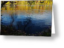 Fall Reflection At The River 2 Greeting Card