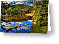 Fall Reflections On Cary Lake Greeting Card