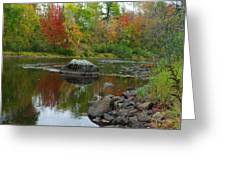 Fall River Reflection Greeting Card