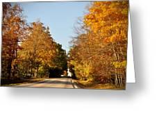 Fall Road Greeting Card