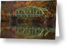 Fall Rocks Village Bridge Greeting Card