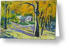 Fall Scenery Greeting Card