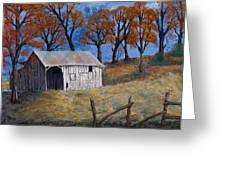 Fall Shed Greeting Card