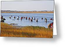 Fall Shellfishing Greeting Card