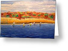 Fall Shellfishing In New England Greeting Card