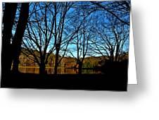 Fall Silhouette Greeting Card