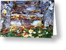 Fall Stairway Greeting Card