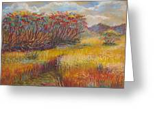 Fall Sumac Fields Greeting Card