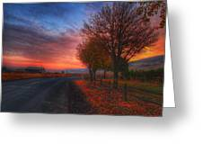 Fall Sunrise Greeting Card