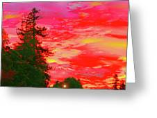 Fall Sunrise Greeting Card