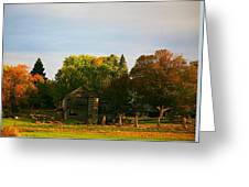 Fall Time On The Farm Greeting Card