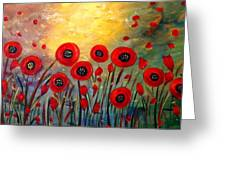 Fall Time Poppies  Greeting Card