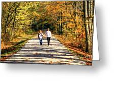 Fall Walk In The Woods Greeting Card