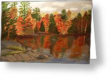 Fall Waterfront Greeting Card