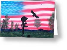Fallen Soldier Greeting Card