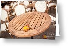 Fallen Yellow Autumn Leaf Greeting Card