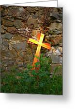 Falling Crosses Greeting Card