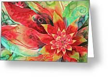 Falling Flower Greeting Card