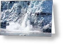 Falling Ice In Alaska Greeting Card