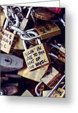 Falling In Love To The Beat Of The Music, Love Lock Greeting Card