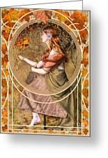 Falling Leaves Greeting Card by John Edwards