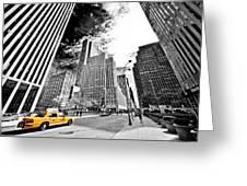 Falling Lines - Rockefeller Center Greeting Card by Thomas Splietker