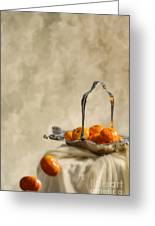 Falling Oranges Greeting Card
