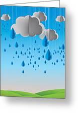 Falling Rain Greeting Card