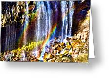 Falling Rainbows Greeting Card