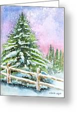 Falling Snowflakes Greeting Card