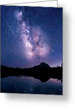Falling Star Over The Sierras Greeting Card