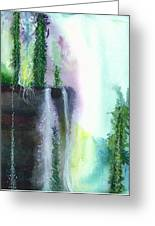 Falling Waters 1 Greeting Card by Anil Nene